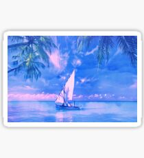 Tropical yachting Sticker