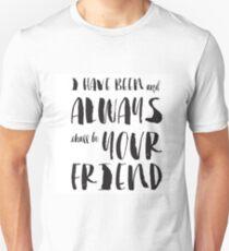 """""""Ich war und werde immer dein Freund sein"""" Spock von Star Trek Slim Fit T-Shirt"""