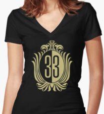 33 Clubin' Women's Fitted V-Neck T-Shirt