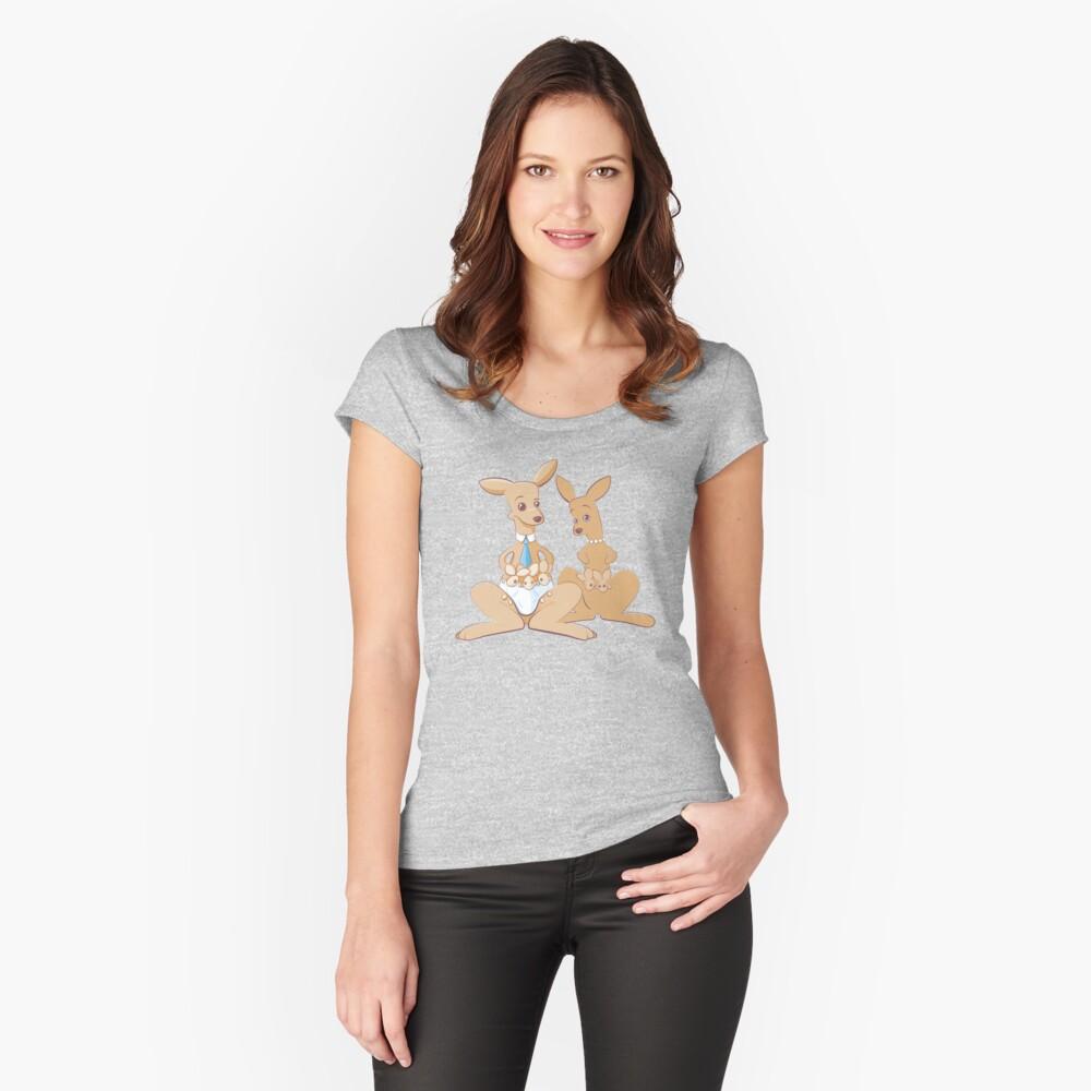 Papá canguro Camiseta entallada de cuello ancho