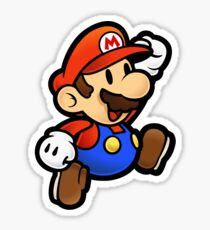 Super Paper Mario Jumping Sticker