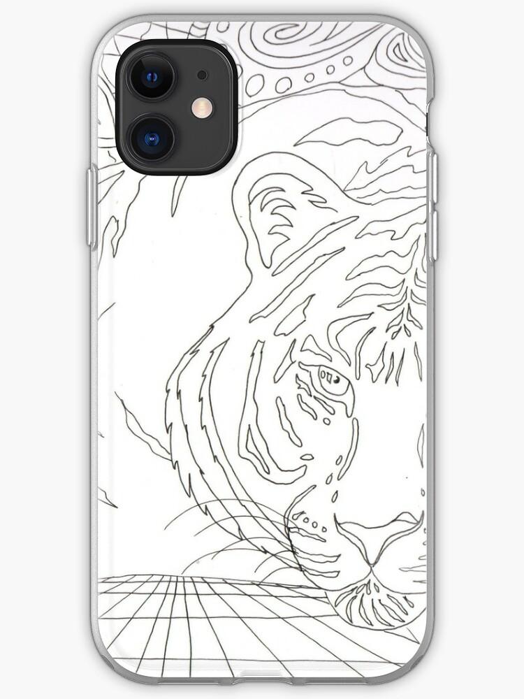 Tiger Malvorlagen Iphone Hulle Cover Von Artbyrachelluca