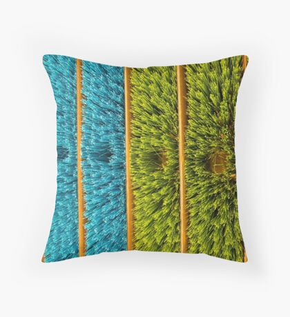 meet the broomheads Throw Pillow