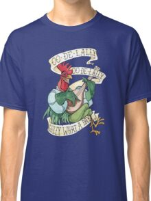 Alan-A-Dale Rooster - OO-De-Lally Golly What A Day Watercolor Painting Classic T-Shirt