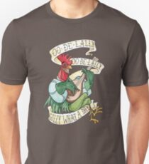 Alan-A-Dale Rooster : OO-De-Lally Golly What A Day Tattoo Watercolor Painting Robin Hood Unisex T-Shirt
