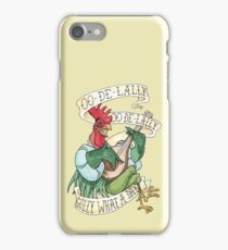 Alan-A-Dale Rooster - OO-De-Lally Golly What A Day Watercolor Painting iPhone Case/Skin