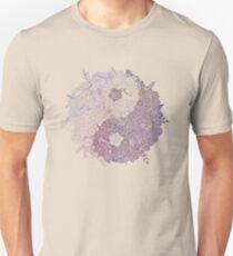 Yin Yang Flowers Unisex T-Shirt