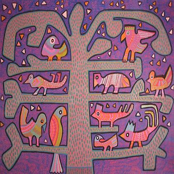 Tree of Life Mola by LindaElksnin