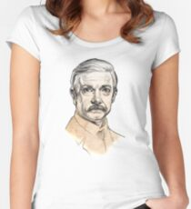 Dr John H. Watson - Martin Freeman Portrait Sketch Abominable Bride  Women's Fitted Scoop T-Shirt