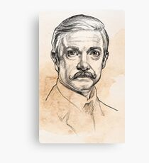 Dr John H. Watson - Martin Freeman Portrait Sketch Abominable Bride  Canvas Print