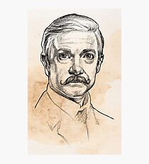 Dr John H. Watson - Martin Freeman Portrait Sketch Abominable Bride  Photographic Print