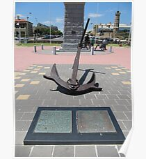 Historical Anchor & Plaques! Semaphore Foreshore, Adelaide Beach. Poster