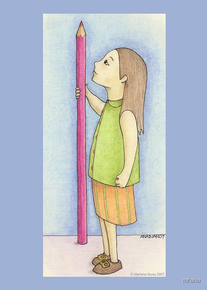 Pencil Girl by Mariana Musa