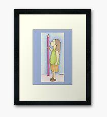 Pencil Girl Framed Print