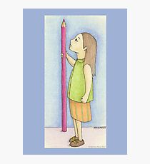 Pencil Girl Photographic Print