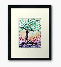 Watercolour Olive Tree Framed Print