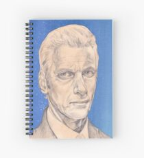 Doctor Who Fan Art Sketch - Peter Capaldi Sketch Portrait Drawing Spiral Notebook