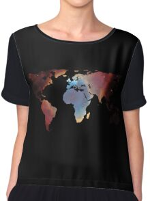 Space Continents Chiffon Top