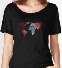 Space Continents Women's Relaxed Fit T-Shirt