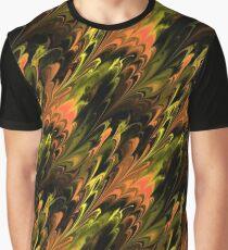 Orange Northern Lights Graphic T-Shirt