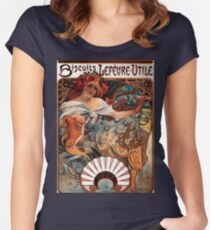 Biscuits Lefèvre-Utile,1896,Alphonse Mucha,litography Women's Fitted Scoop T-Shirt