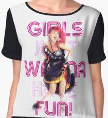 Cyndi Lauper - Girls Just Wanna Have Fun Chiffon Top