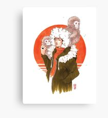 Snow Apes Canvas Print