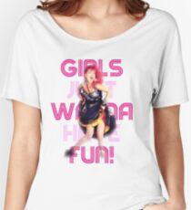Cyndi Lauper - Girls Just Wanna Have Fun Women's Relaxed Fit T-Shirt