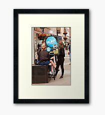 HERE TO HELP Framed Print