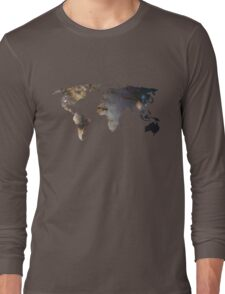 Space Continents Long Sleeve T-Shirt