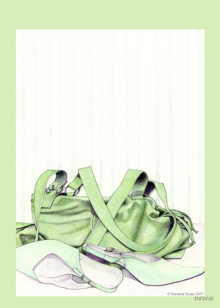 Green Bag & Shoes by Mariana Musa