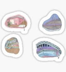 Aesthetic Rooms Stickers Sticker