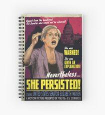 She Persisted - Elizabeth Warren Vintage Movie Poster Spiral Notebook