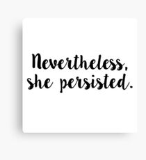 she persisted stickers Canvas Print