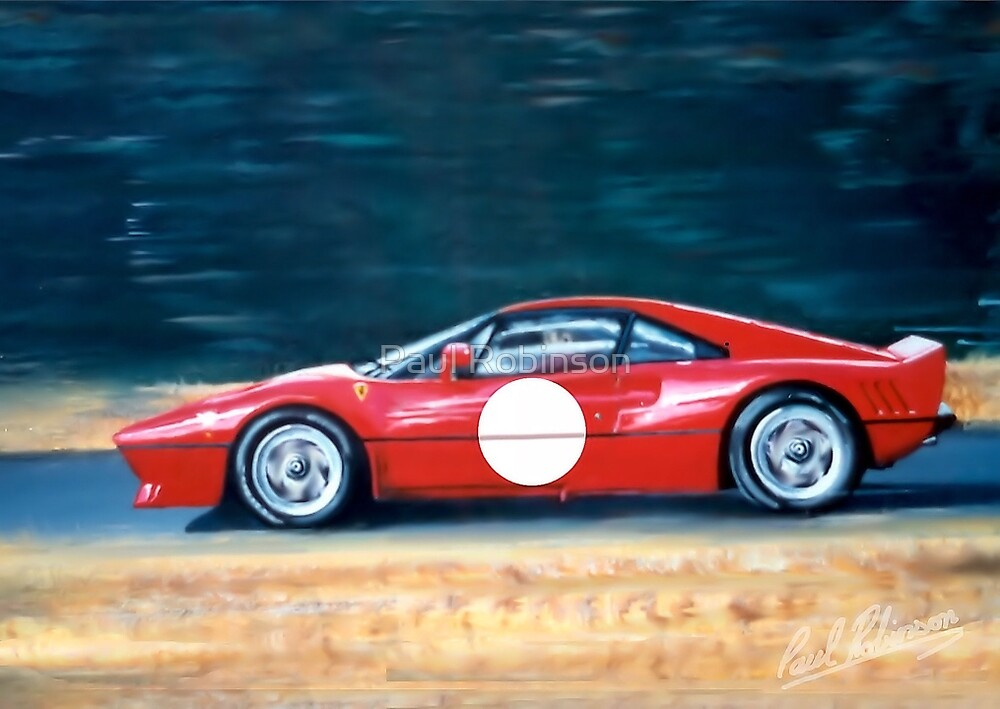 Ferrari 288 GTO.(From an acrylic painting on canvas Panel) by PAUL57