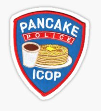 Pancake police patch  Sticker