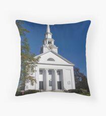 New England Church Throw Pillow