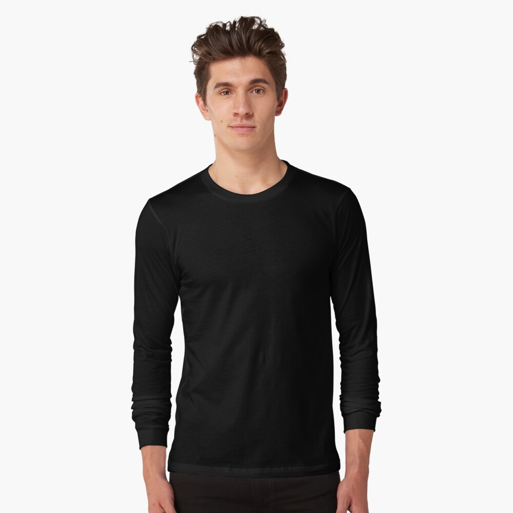 Ultimate Black Solid Color Long Sleeve T-Shirt