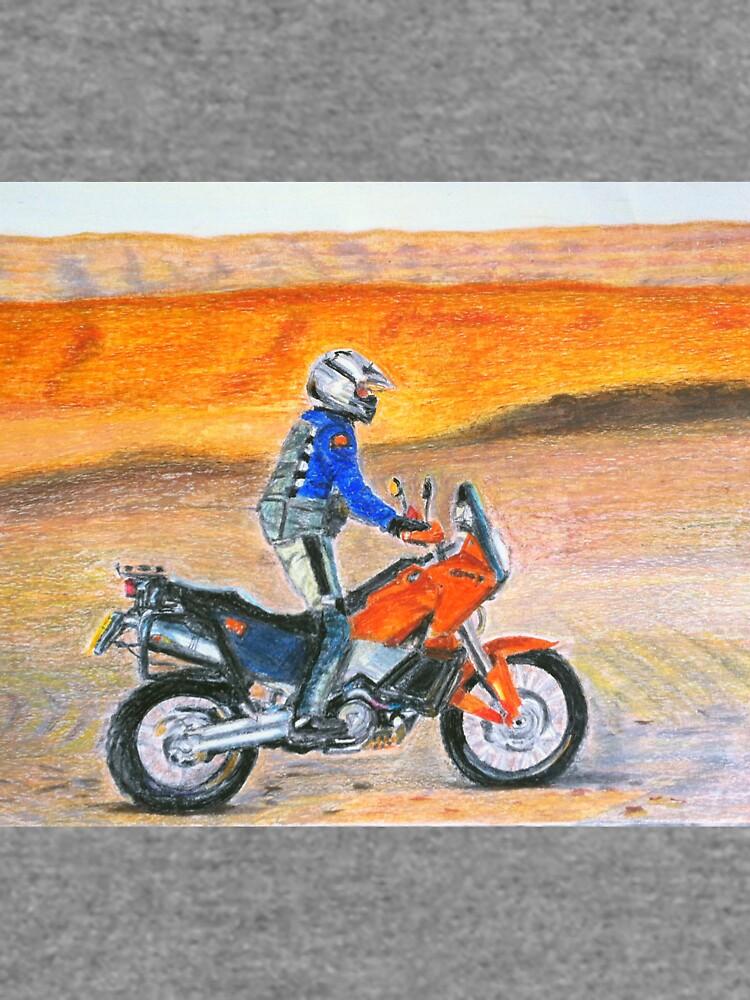 KTM 990 Adventure Dune Rider at sunset by DucatiCatArt