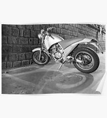 Motorcycle black white  Poster