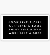 LIKE A BOSS GIRL stickers Sticker