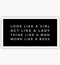 LIKE A BOSS GIRL  Sticker