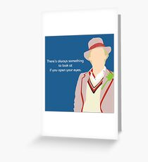 5th Doctor Greeting Card