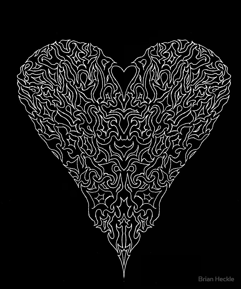 Negative Heart by Brian Heckle