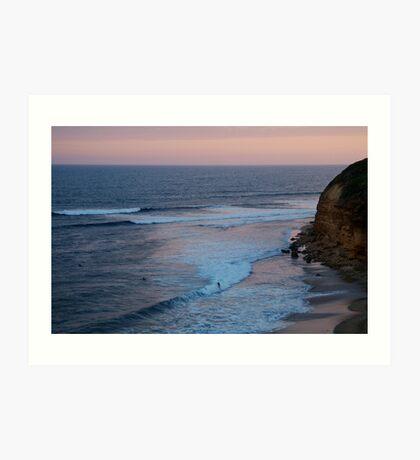Twilight, Bells Beach Australia,Great Ocean Road Art Print