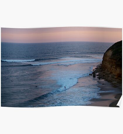 Twilight, Bells Beach Australia,Great Ocean Road Poster