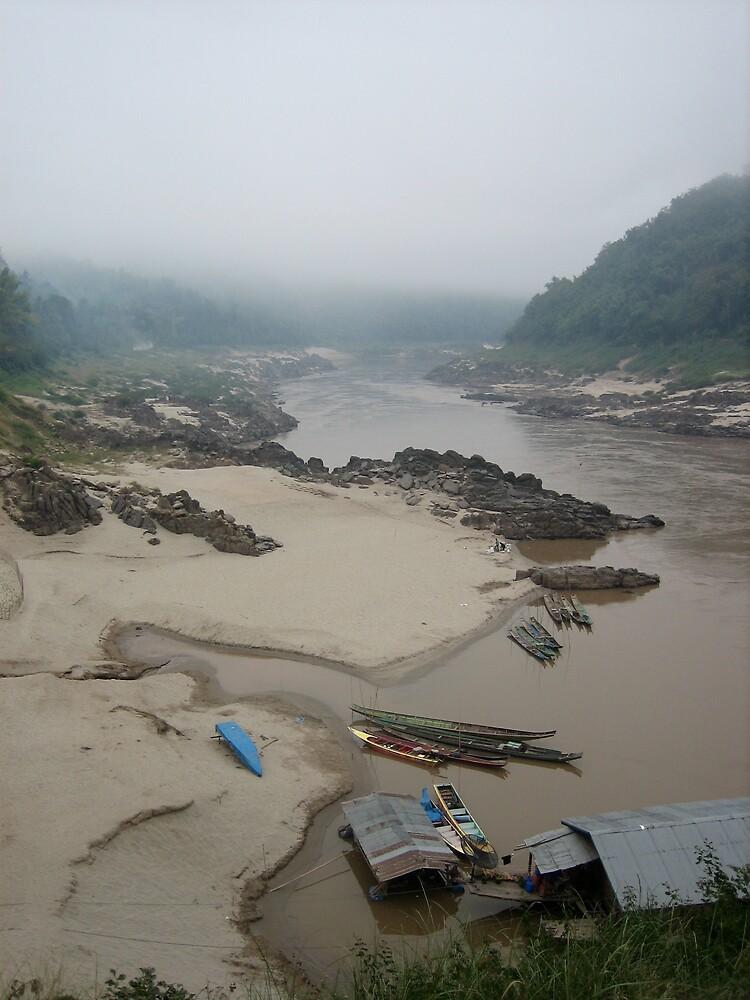 Mekong River Morning by Justin McMurray