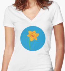 Daffodil Day Women's Fitted V-Neck T-Shirt