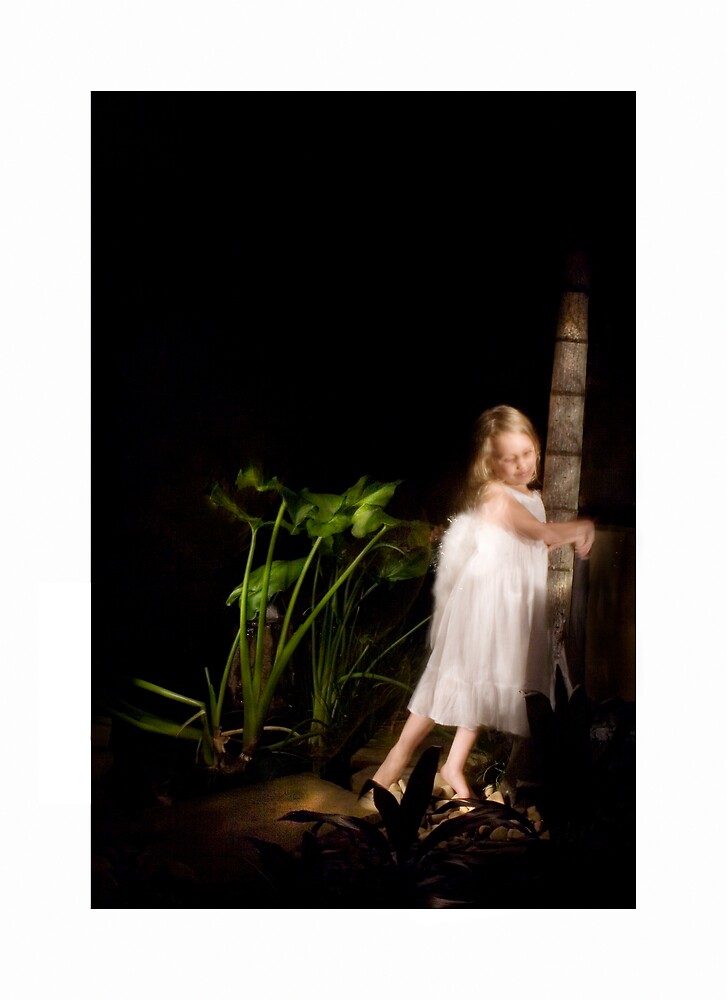 angel by pond by ellevrg
