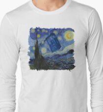 Starry Night Tardis Long Sleeve T-Shirt